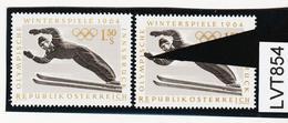 LTV854 ÖSTERREICH 1963 Michl 1138 PLATTENFEHLER HAND über MARKENBILD ** Postfrisch - Abarten & Kuriositäten