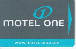 HOTEL MOTEL ONE , Llave Keycard Clef Hotelkarte - Hotel Labels