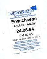 Ticket Entree Parc  Attraction Euro-park Allemagne Theme Souris - Tickets D'entrée