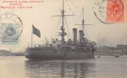 Espagne - Melilla / Belle Oblitération - 29 - Carte Photo - Marina De Guerra Espanola - Crucero - Princesa Asturia - Melilla