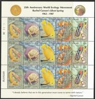1987 Palau Symbiotic Marine Species Sheetlet (** / MNH / UMM) - Marine Life