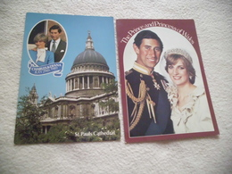 LOT DE 2 CARTES ..CHARLES ET DIANA ..LE MARIAGE - Royal Families