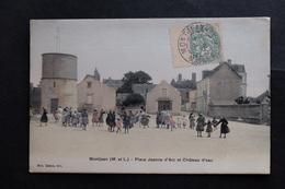 CPA 49 MONTJEAN PLACE JEANNE D'ARC Et CHATEAU D'EAU  TIMBRE Et TAMPON ECRITE  Maine Et Loire DEHAIS Edit  1906 - France