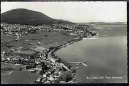 SUISSE - CPSM Auvernier - Vue Aérienne - Ed. A. Deriaz Baulmes - TB - - NE Neuchatel