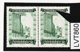 LTV860 ÖSTERREICH 1948 Michl 860 PLATTENFEHLER  FARBSTRICH MARKENRAND ** Postfrisch - Abarten & Kuriositäten