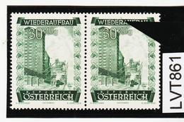 LTV861 ÖSTERREICH 1948 Michl 860 PLATTENFEHLER  FARBSTRICH MARKENRAND ** Postfrisch - Abarten & Kuriositäten