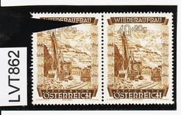 LTV862 ÖSTERREICH 1948 Michl 861 PLATTENFEHLER  FARBFLECK ** Postfrisch - Abarten & Kuriositäten