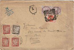 CTN54C- GRANDE BRETAGNE LETTRE HORNSEY / PARIS19/7/1897 TAXEE  A L'ARRIVEE - 1840-1901 (Victoria)