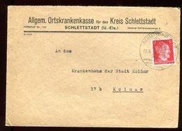 Allemagne - Enveloppe De Schlettstadt Pour Colmar En 1944 - N70 - Briefe U. Dokumente