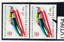 LTV864 ÖSTERREICH 1975 Michl 1481 PLATTENFEHLER LANGER FARBSTRICH  ** Postfrisch - Abarten & Kuriositäten