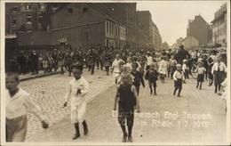 Cp Köln Am Rhein, Durchmarsch Englischer Truppen, Am 01.07.1919, Kinder, Soldaten Mit Dudelsack - Allemagne