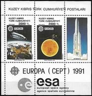 Chypre Turc Cyprus Turquie CEPT 1991 Yvertn° Bloc 9 *** MNH  Cote 10 Euro - 1991