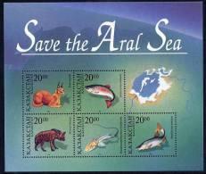 KAZAKHSTAN 1996 Save The Aral Sea Block. MNH / ** - Kazakhstan