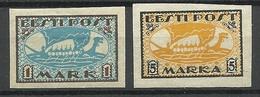 Estonia Estonie 1919 Wiking Ship Michel 12 - 13 X (white Paper), Unused - Estonia