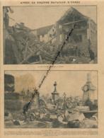 GUERRE 14-18 : Document, La Bataille D'Ypres (Belgique), La Brasserie Rabeau, Le Cimetière, Rues, Batiments - Non Classés
