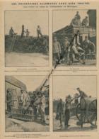 GUERRE 14-18 : Document, Prisonniers Allemands Au Travail, Boulangerie, Baraques En Planches, Ramassage De Bois,Eau - Non Classés
