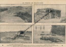 GUERRE 14-18 : Document, Fortin De Beauséjour (Marne), Tranchées, Abri De Canons, Artillerie, Pertes Allemandes - Non Classés