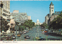 Postcard - At 15th Street Looking Down  Pennsylvania Avenue - Photo By Dino Sassi - VG - Postcards