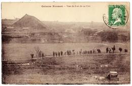 """CALONNE RICOUART Mal Orthographié """" Colonne Riconart """" 62 - Vue Du 6 Et De Sa Cité - Mines Terril Puits Charrette Cheval - Andere Gemeenten"""