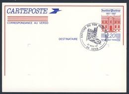 "France Rep. Française 1987 Card / Karte / Carte - Bapteme TGV ""Ville De Sens "" / Tauf Lokomotive - Treinen"