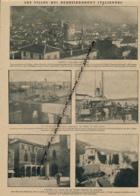 GUERRE 14-18 : Document, Italie, Trente, Phare, Entrée Du Port, Quais De Trieste, Hôtel De Ville Et Fortin De Raguse - Non Classés