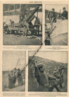 GUERRE 14-18 : Document, Artillerie, Canons, Pièce De 155 Court, Aviateurs, Soldats Belges, Poilus Lançant Une Grenade - Non Classés