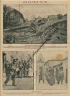 GUERRE 14-18 : Document, Entrée Au Village De Carency, Garde-Champêtre, Crieurs Publics, Tambour, Cymbales, Fontaine - Non Classés