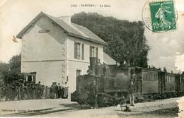 DEP56 - SARZEAU La Gare TRAIN LOCOMOTIVE édit.laurent N° 3989 - Sarzeau