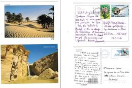 Tunisie  : A Voir !!!  2 Jolies Cartes Postales Affranchies - Tunesien
