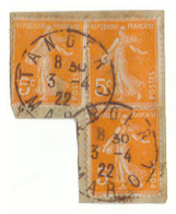 8 Timbres De France Semeuse Avec Cachets Maroc Tanger  Casablanca, Postes Aux Armées Et Itzer (Khénifra). - Frankrijk