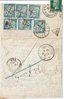 CTN54C- DEPLIANT ST MAXIME / ST TROPEZ 14/6/1926 FAIT SUIVRE EN POSTE RESTANTE A ST DIDIER REFUSE RETOUR ENVOYEUR - Marcophilie (Lettres)
