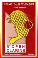 SUPERBE PIN'S TENNIS-PARFUM : Le 6e OPEN De TENNIS CLARINS, Version Balle ROUGE, émail Grand Feu Base Or, 3X1,6cm - Perfume