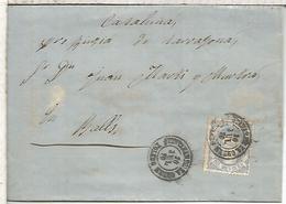 QUINTANAR DE LA ORDEN TOLEDO A VALLS TARRAGONA 1870 - Cartas