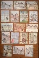 Lot De 17 Cartes Postales Les Chateaux De La Loire / Aquarelles De Ph Legendre-Kvater - Castles