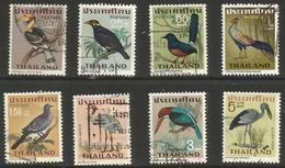 Thailand - 1967 Birds Used    Sc 469-76 - Thailand