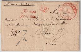 """1833, """" BRUXELLES """" Lettre Consulat Pour La Suisse  , #a1307 - 1830-1849 (Belgique Indépendante)"""