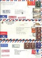 (335)   HongKong 6 Luftpost R.-Briefe Nach Deutschl. Mit Höheren Werten - Non Classés
