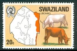 SWAZILAND 1967 Cattle, Lubombo Region 20c., XF MNH, MiNr 280, SG 283; C.v. £0.75 - Swaziland (1968-...)