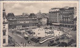 BRUXELLES PLACE ROGIER ET GARE DU NORD  BRUSSEL ROGIERPLAATS EN NOORDSTATION  TRAM - Places, Squares