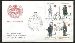1987 ORDINE DI MALTA SMOM  Uniformi Uniforms   FDC  Viaggiata Bellissima - Malte (Ordre De)