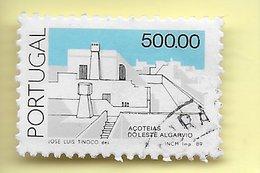 TIMBRES- STAMPS- PORTUGAL -1985 - ARCHITECTURE POPULAIR AU PORTUGAL - TIMBRE OBLITÉRÉ CLÔTURE DE SÉRIE - Oblitérés
