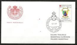 1987 ORDINE DI MALTA SMOM  Camerun PA  FDC  Viaggiata Bellissima - Malte (Ordre De)