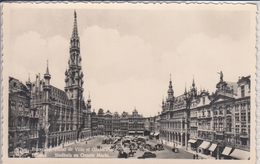BRUXELLES HOTEL DE VILLE ET GRAND PLACE  BRUSSEL STADHUIS EN GROOTE MARKT  1943 - Places, Squares