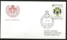 1987 ORDINE DI MALTA SMOM  Gabon PA  FDC  Viaggiata Bellissima - Malte (Ordre De)