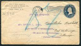 Stationery Cover, American Gem & Pearl Co. Church Street, NY - Arthur Kahn, David & Grosgogeat, Paris. SS CAMPANIA - United States