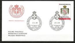 1988 ORDINE DI MALTA SMOM Bertie   FDC  Viaggiata Bellissima - Malte (Ordre De)