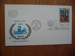 (D) UNITED NATIONS NACIONES UNIDAS 10-01-1975 - New York -  VN Hauptquartier