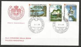 1988 ORDINE DI MALTA SMOM   FDC  Viaggiata Bellissima - Malte (Ordre De)