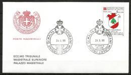 1988 ORDINE DI MALTA SMOM  Lbano PA FDC  Viaggiata Bellissima - Malte (Ordre De)