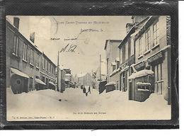 975-SAINT-PIERRE-et-MIQUELON-*SAINT-PIERRE-Une Vue Animée De La Rue NIELLY En Hiver-Magasin-Photographe - Saint-Pierre-et-Miquelon
